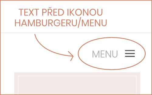Jak vložit text vedle mobilního menu | Divi